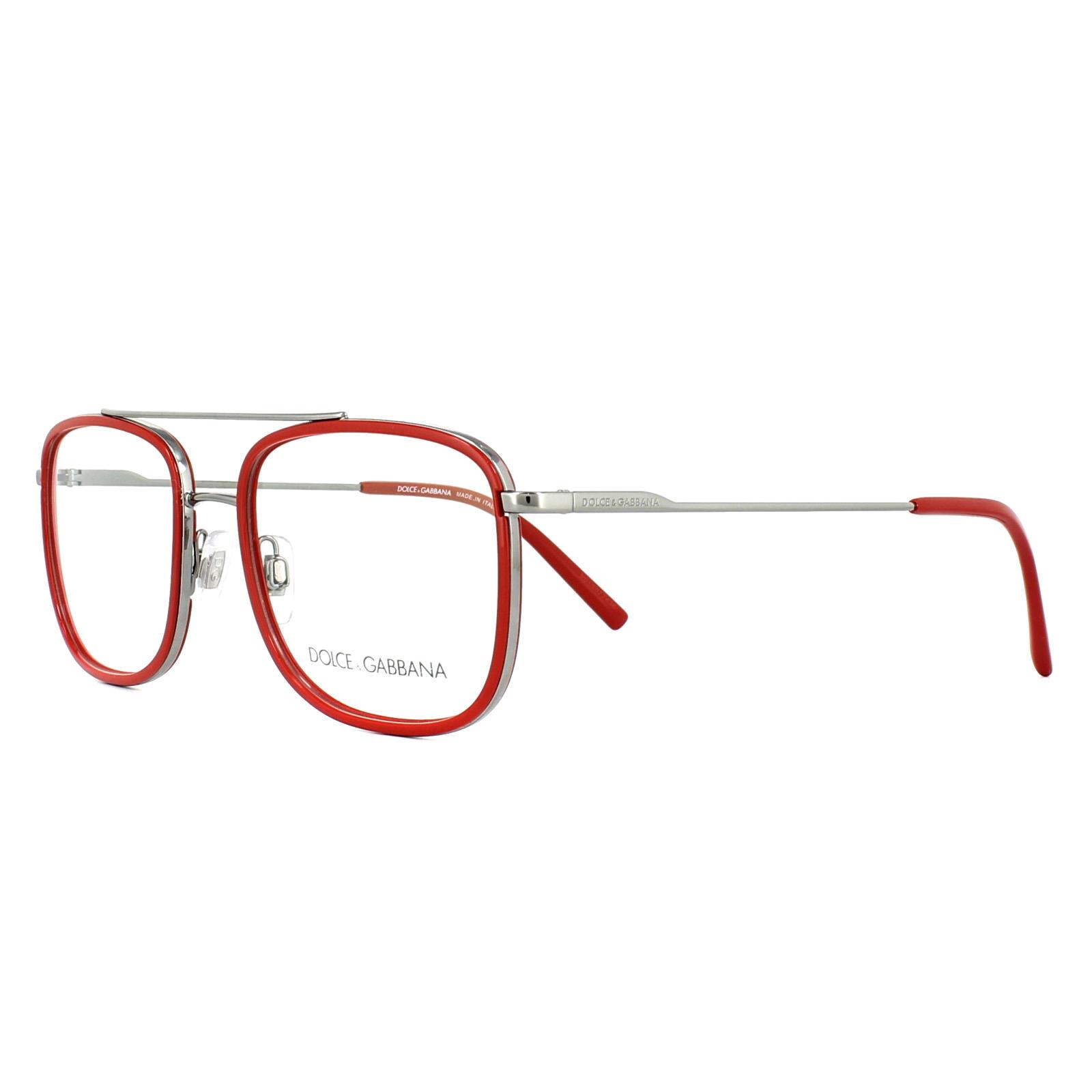 e96575d3d1a4 Sentinel Dolce & Gabbana Glasses Frames DG 1288 04 Gunmetal Red 53mm Mens