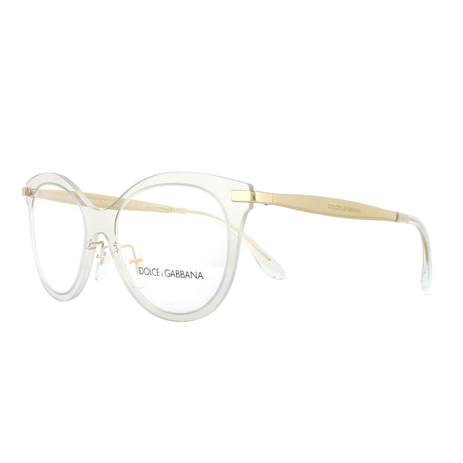 bfee2ae4ef Sentinel Dolce   Gabbana Glasses Frames DG 1292 3073 Clear 51mm Womens
