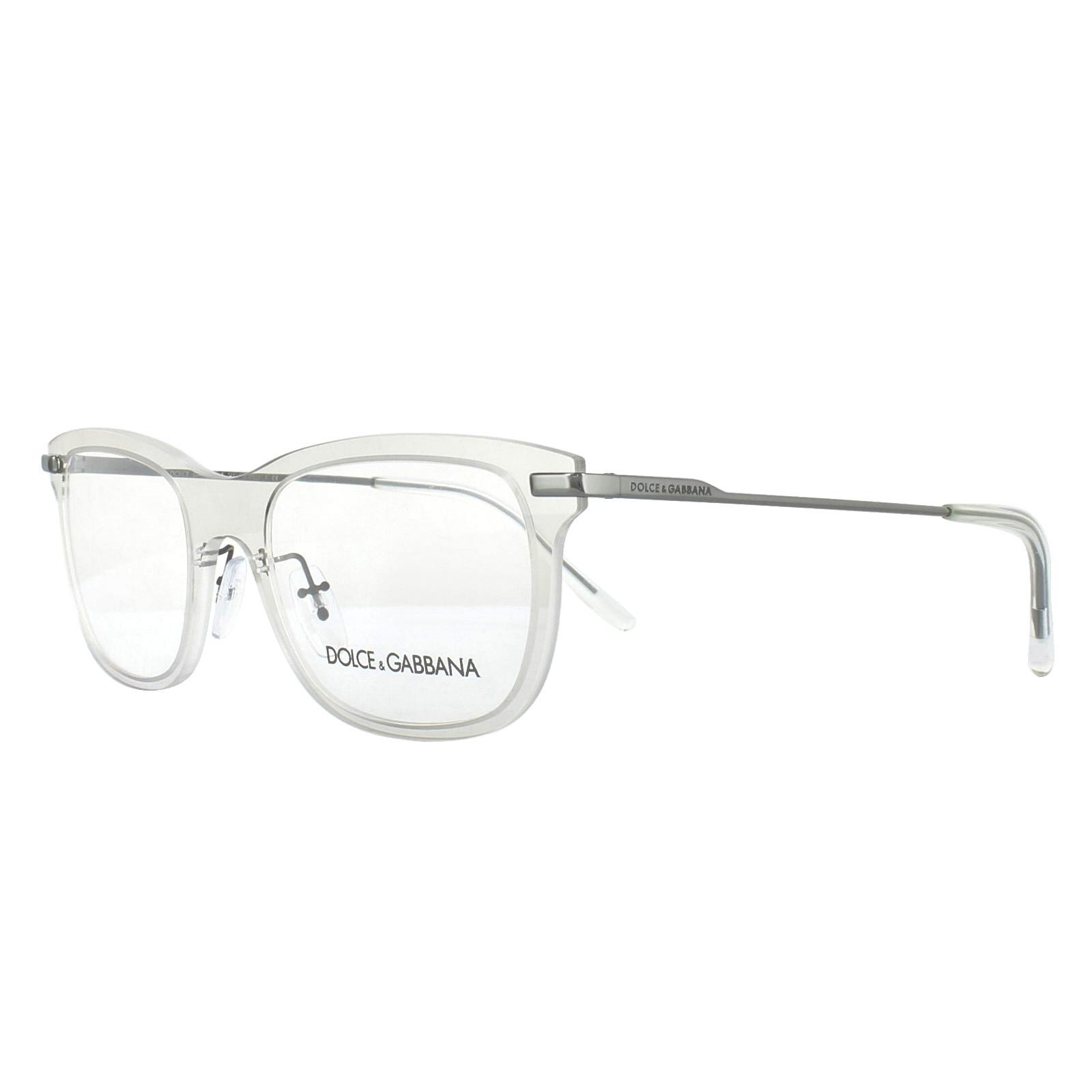 dde32e9a1c Details about Dolce   Gabbana Glasses Frames DG 1293 04 Clear 53mm Mens