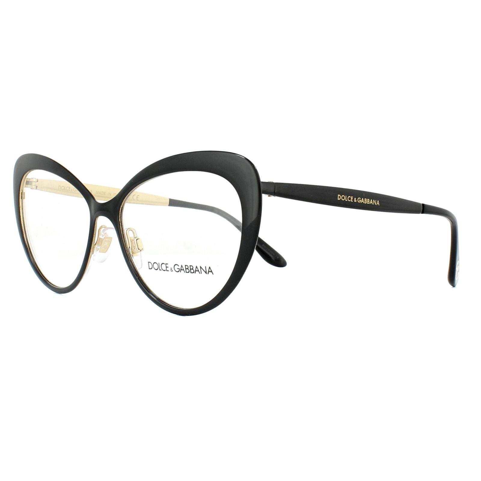 1c885c9f3ee Sentinel Dolce   Gabbana Glasses Frames DG 1294 01 Black Gold 54mm Womens.  Sentinel Thumbnail 2