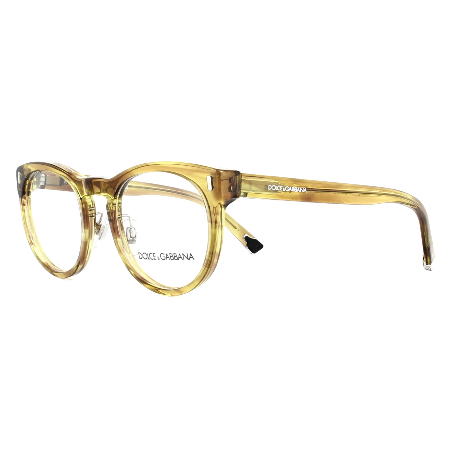 Sentinel Dolce & Gabbana Glasses Frames DG 3240 2927 Striped Honey 49mm Mens