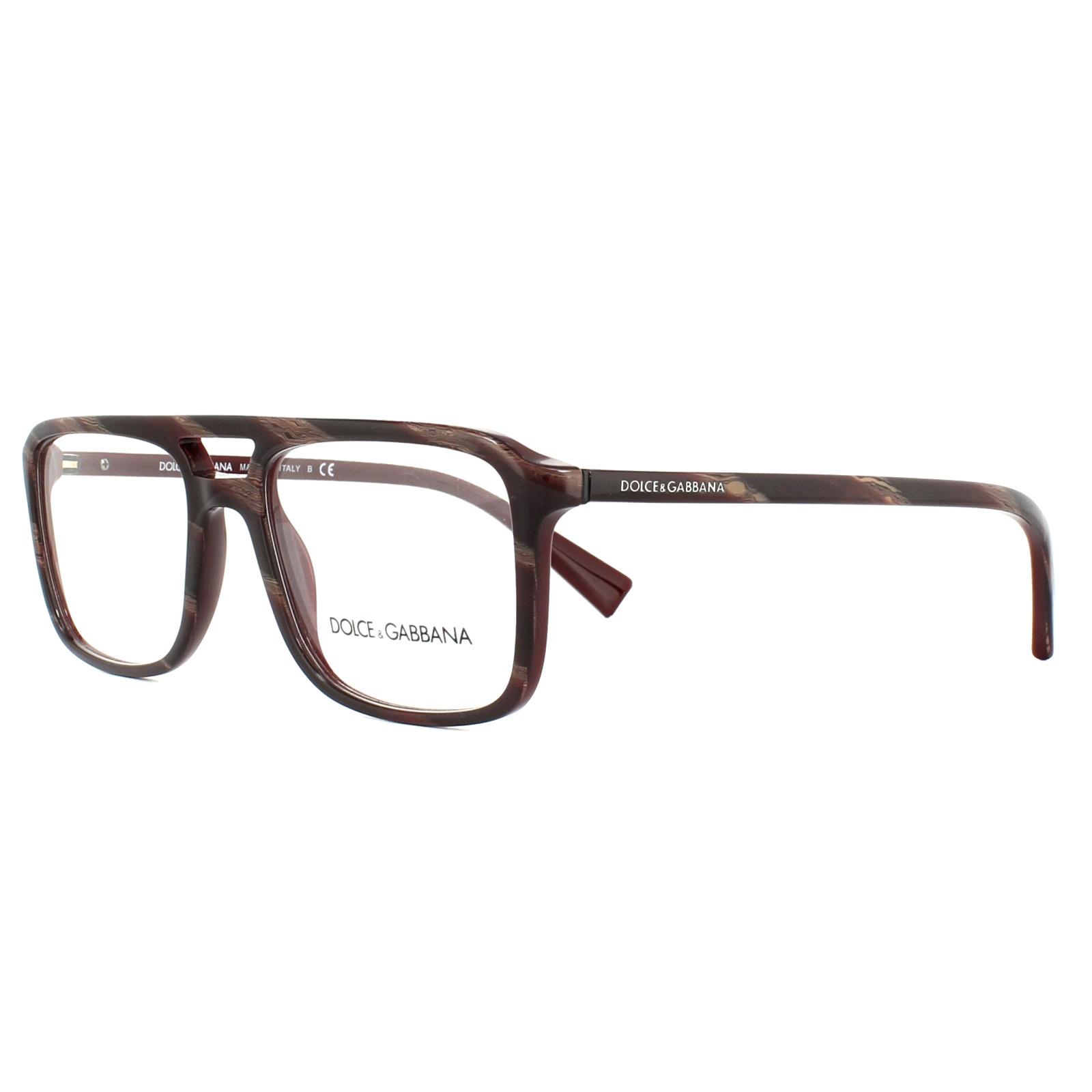 8679beddb988 Sentinel Dolce   Gabbana Glasses Frames DG 3267 3093 Striped Red on Bordeaux  54mm Mens