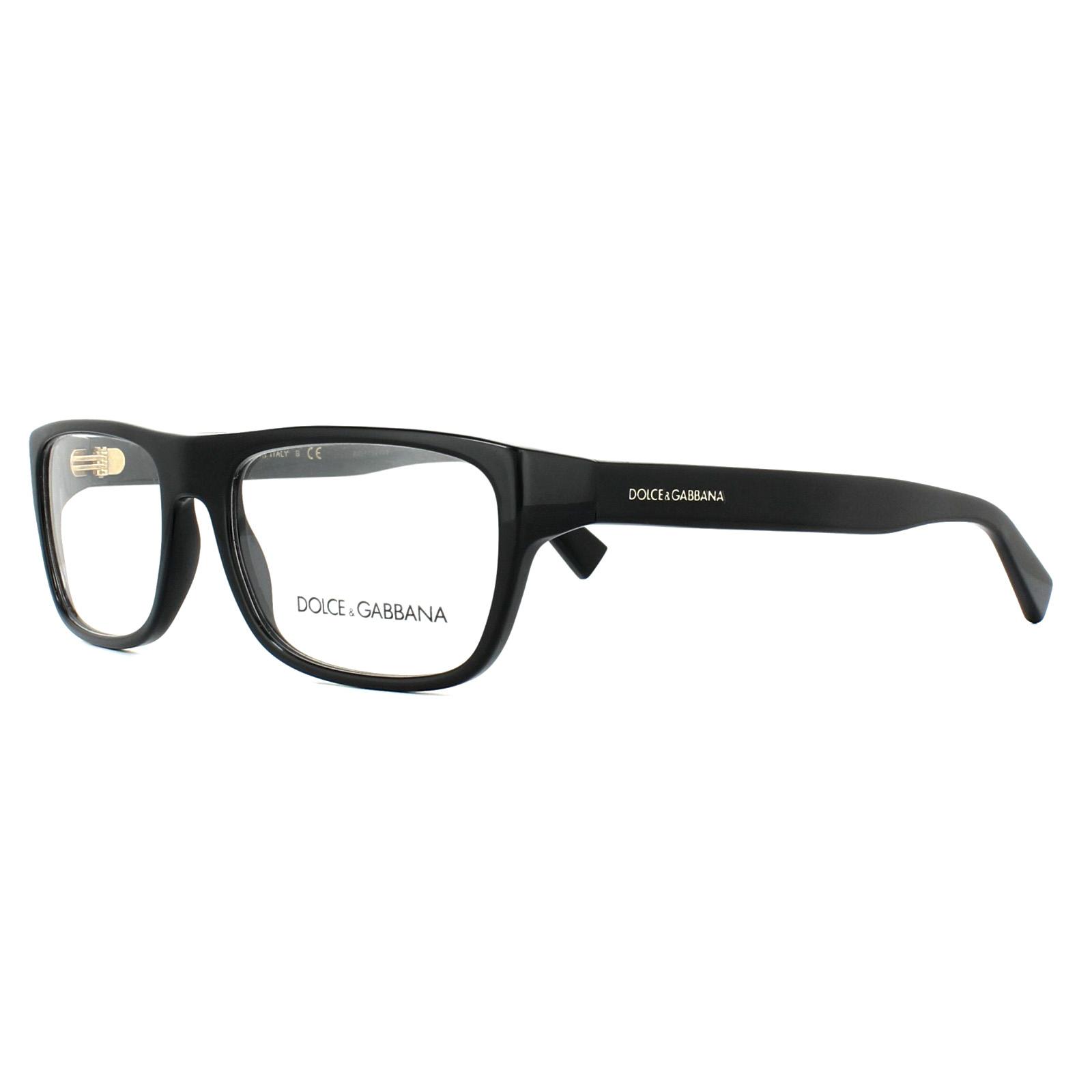 9e8ec89e127b Sentinel Dolce & Gabbana Glasses Frames DG 3276 501 Black 52mm Mens