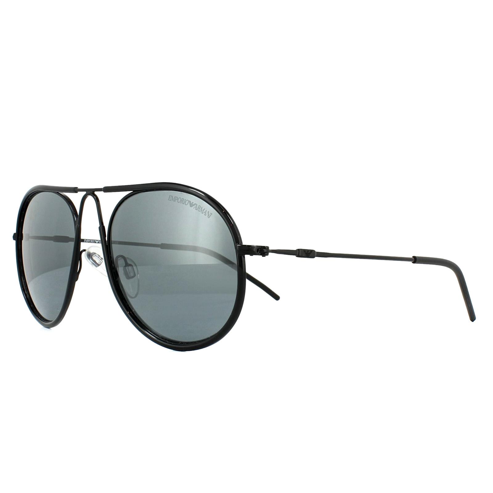 579d46fe53a Sentinel Emporio Armani Sunglasses 2034 30146G Black Grey Mirror