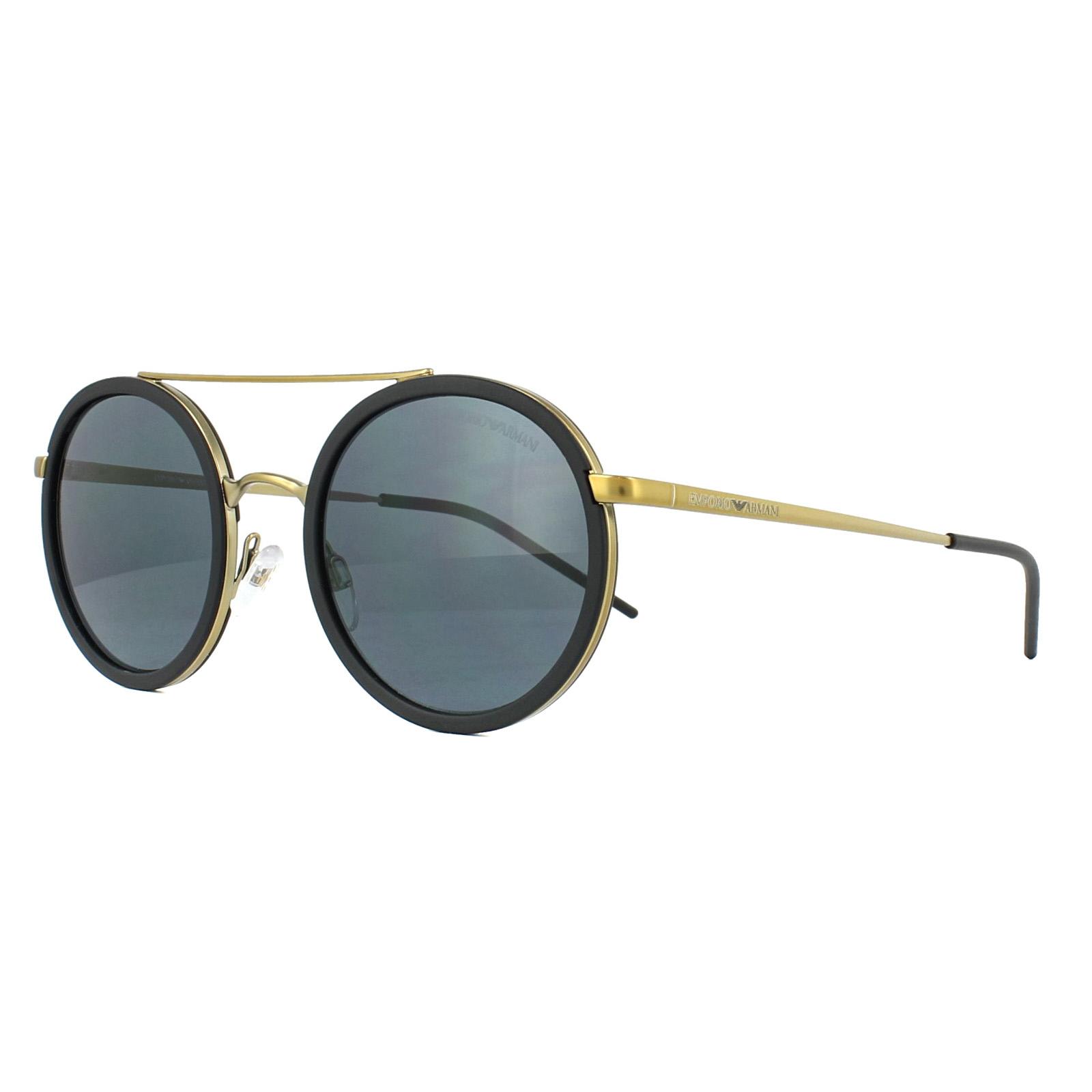 Sentinel Emporio Armani Sunglasses 2041 300287 Matt Pale Gold Grey