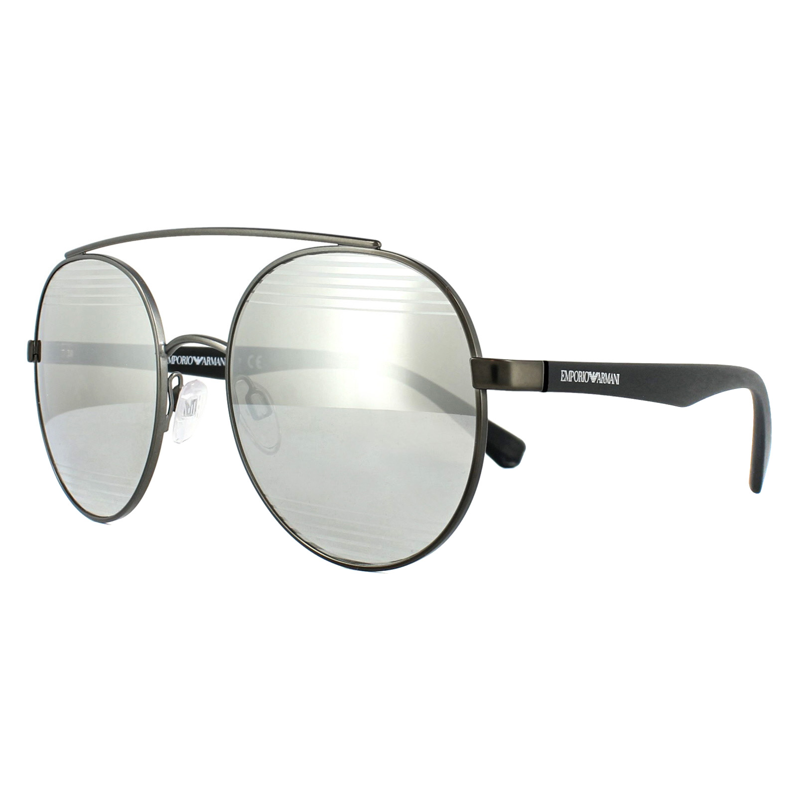 dfbd33e57e8 Sentinel Emporio Armani Sunglasses 2051 30106G Matt Gunmetal Silver Mirror