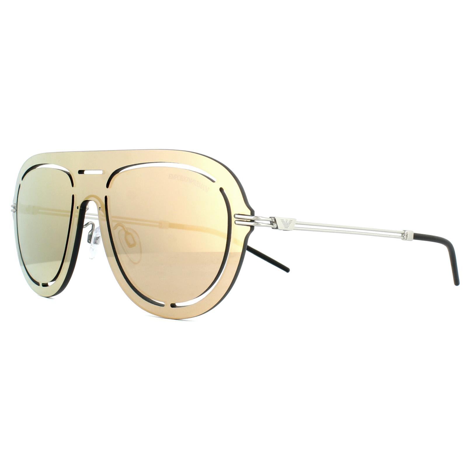 3049f0f738a7 Sentinel Emporio Armani Sunglasses 2057 30154Z Silver Rose Gold Mirror