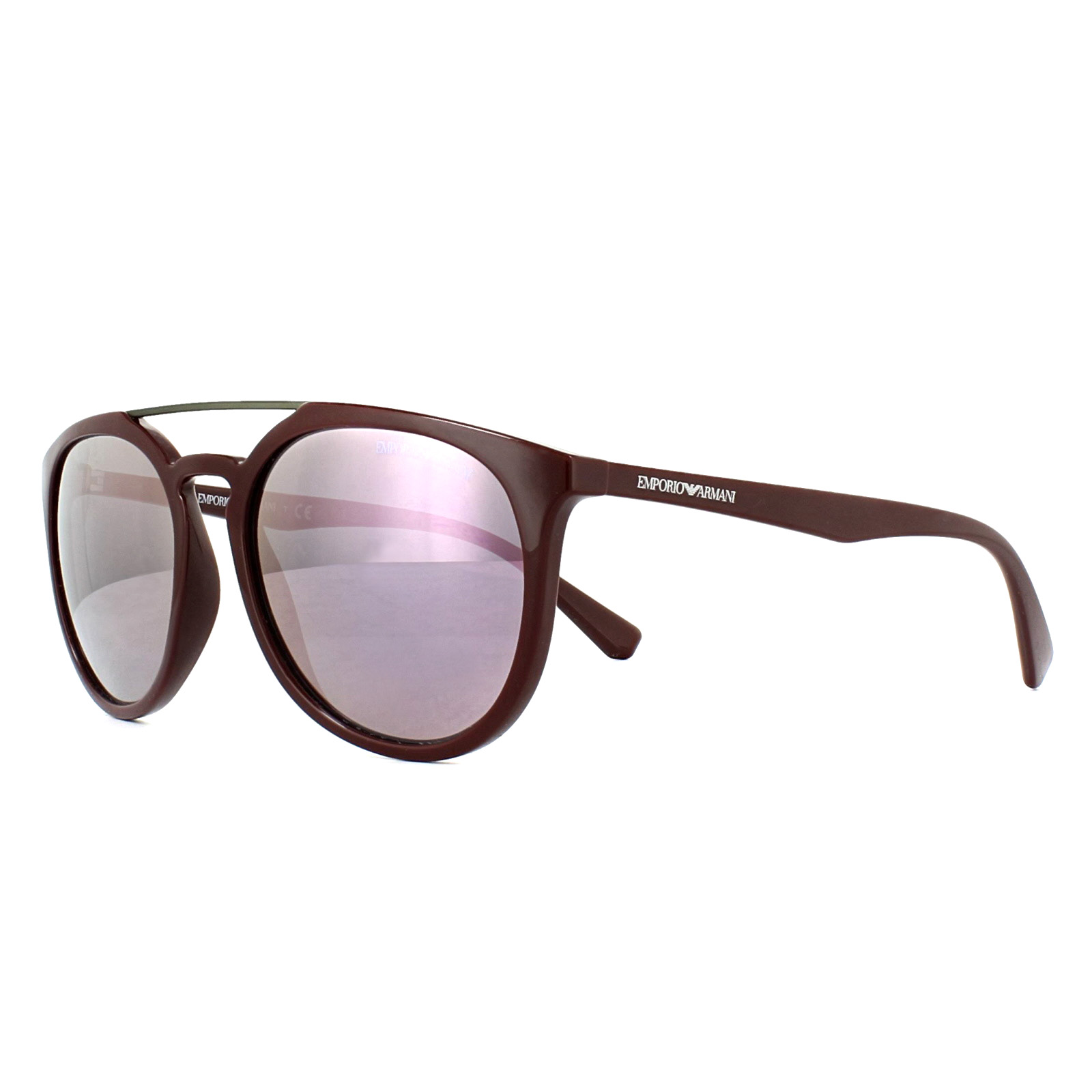 641ff07419e Sentinel Emporio Armani Sunglasses 4103 55985R Bordeaux Pink Mirror