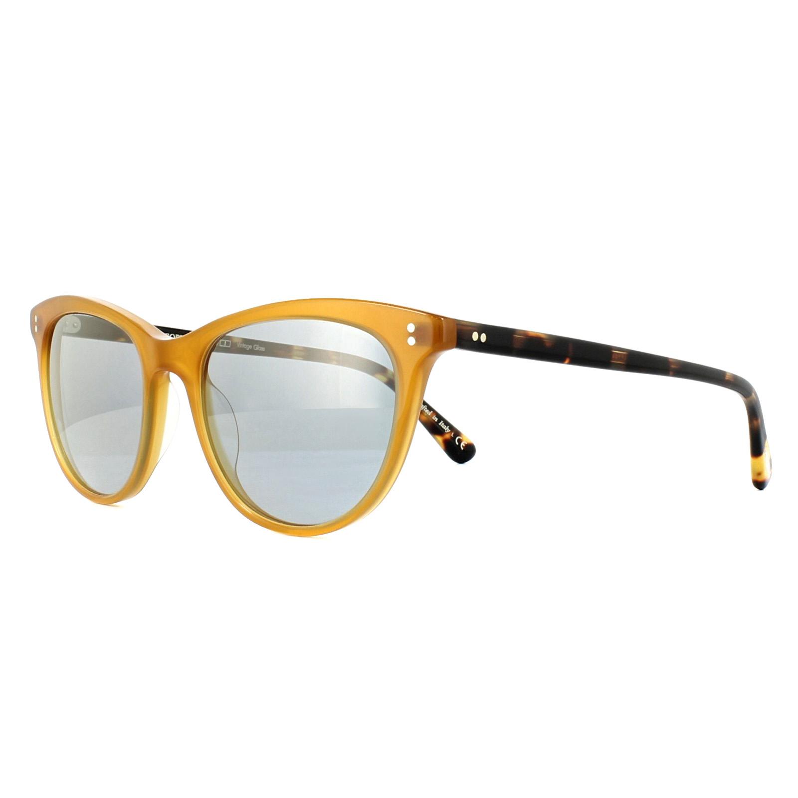 083903deebac2 Sentinel Oliver Peoples Sunglasses Jardinette OV5276SU 1590Y5 Amber Blue  Goldtone