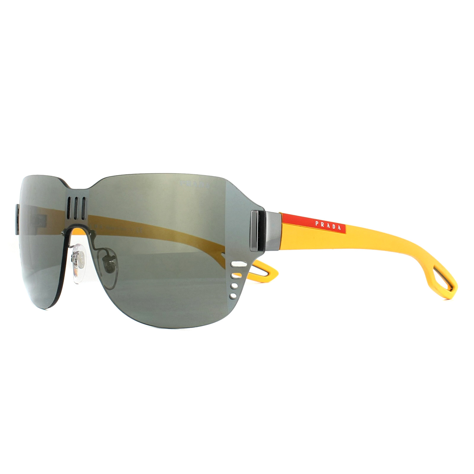 f068a5faa6c3 Sentinel Prada Sport Sunglasses 05SS 5AV4L0 Gunmetal Black Mirror