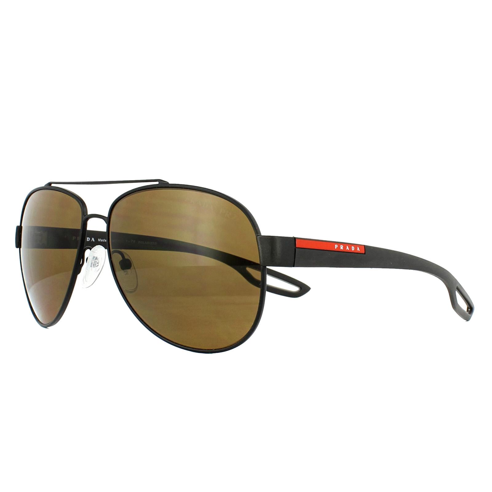 d859181489609 CENTINELA Prada Sport gafas de sol 55QS UEA5Y1 goma marrón marrón polarizado  62mm