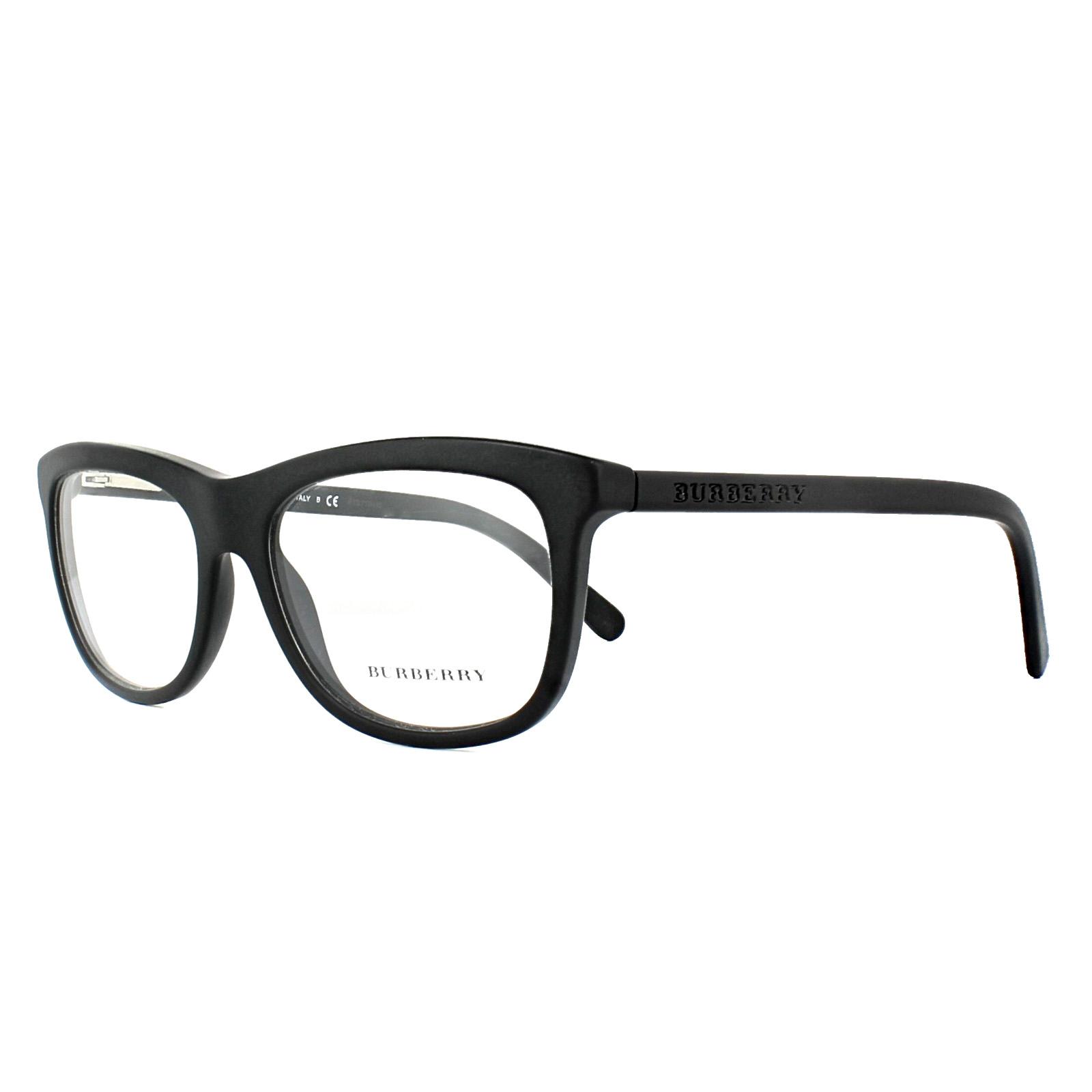 Burberry Glasses Frames BE2163 3464 Matt Black 55mm Mens ...