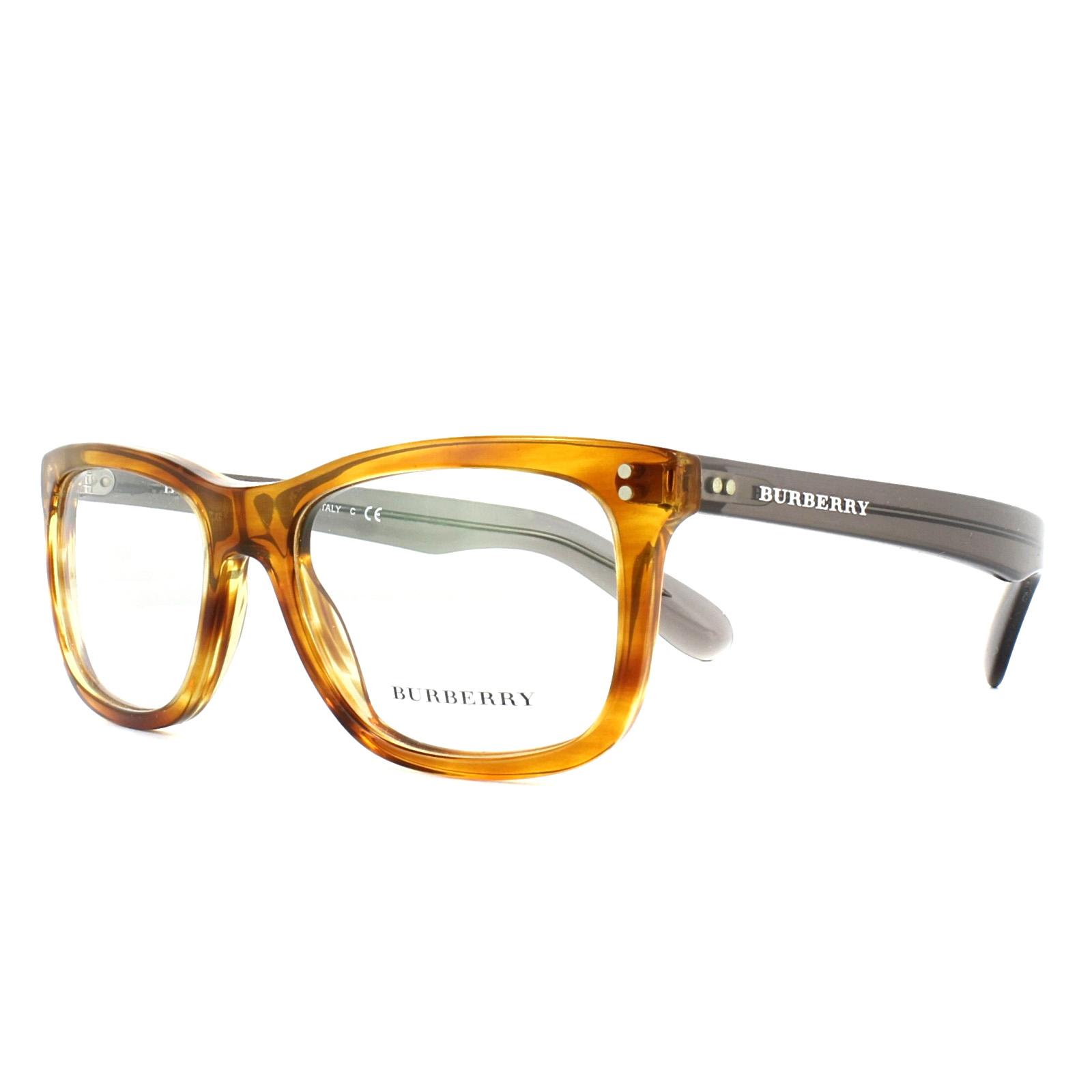 Burberry Glasses Frames BE2212 3550 Amber Horn 52mm Mens ...