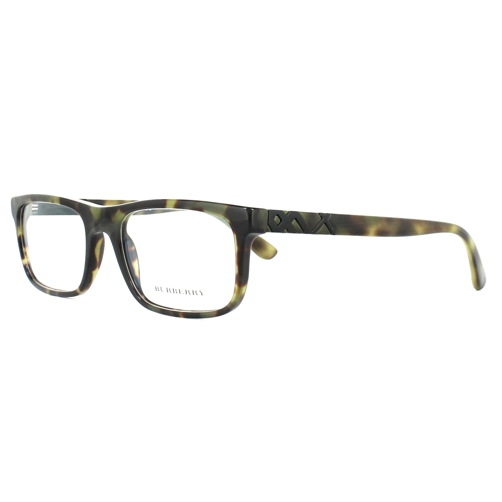 9a4e780df3c9 Sentinel Burberry Glasses Frames BE2240 3280 Green Havana 53mm Mens