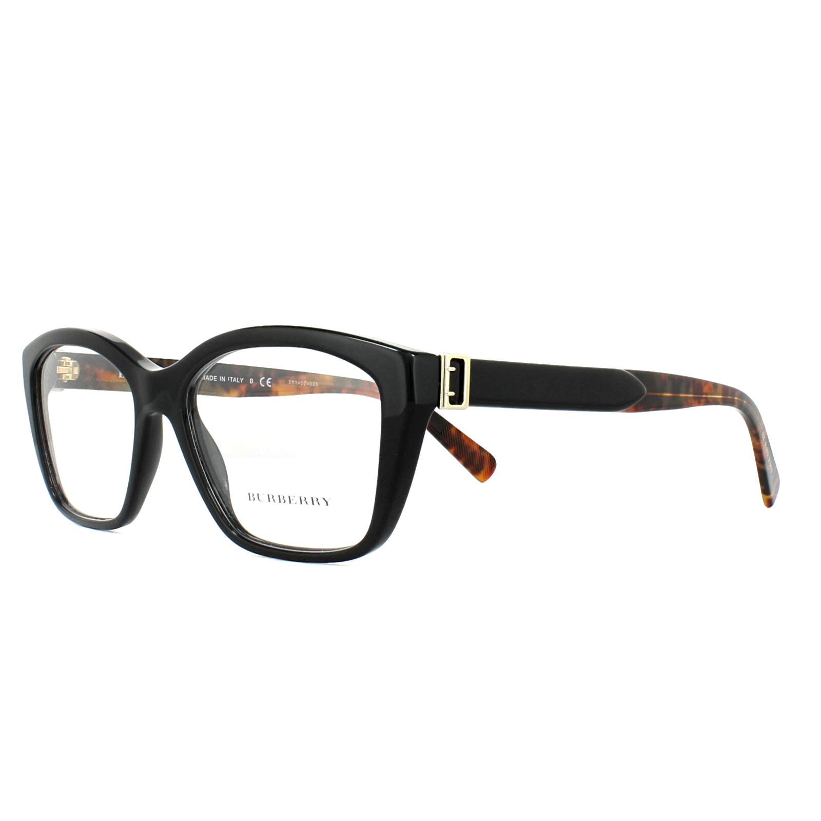 b49e05421af Burberry Glasses Frames BE2265 3683 Black 53mm Womens 8053672805918 ...