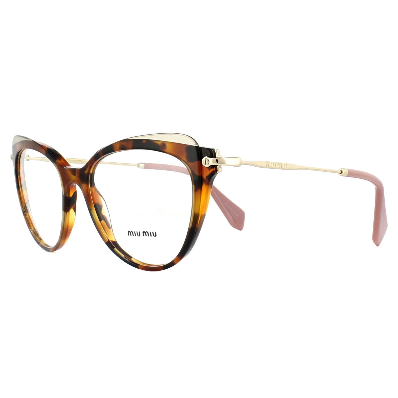 9f415ea1e261 Sentinel Miu Miu Glasses Frames MU01QV VX81O1 Havana Transparent Brown 52mm  Womens