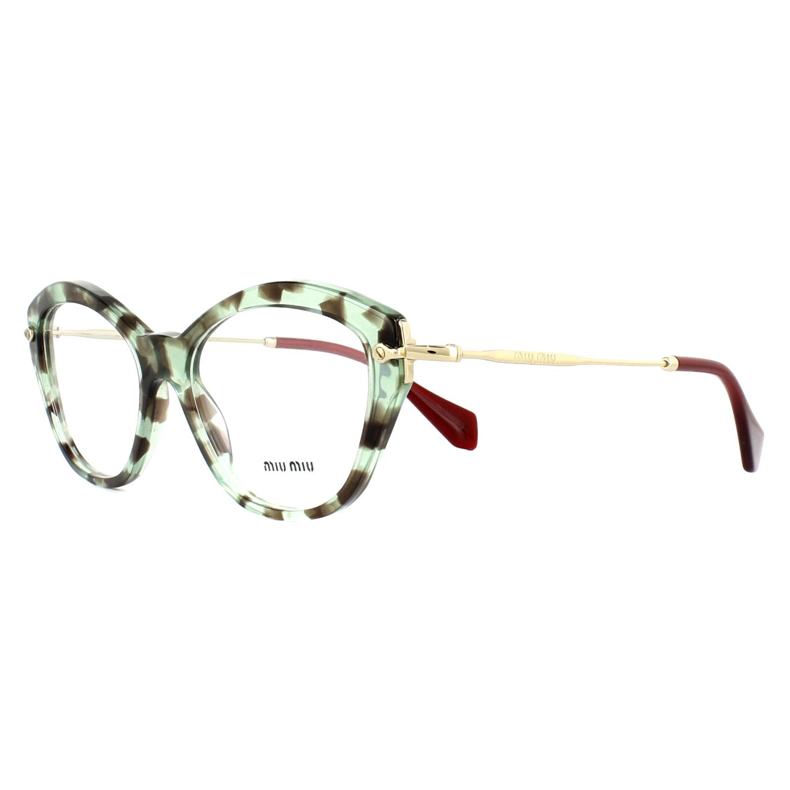 31e79adbdb9f Sentinel Miu Miu Glasses Frames MU02OV UAG1O1 Green Havana 52mm Womens