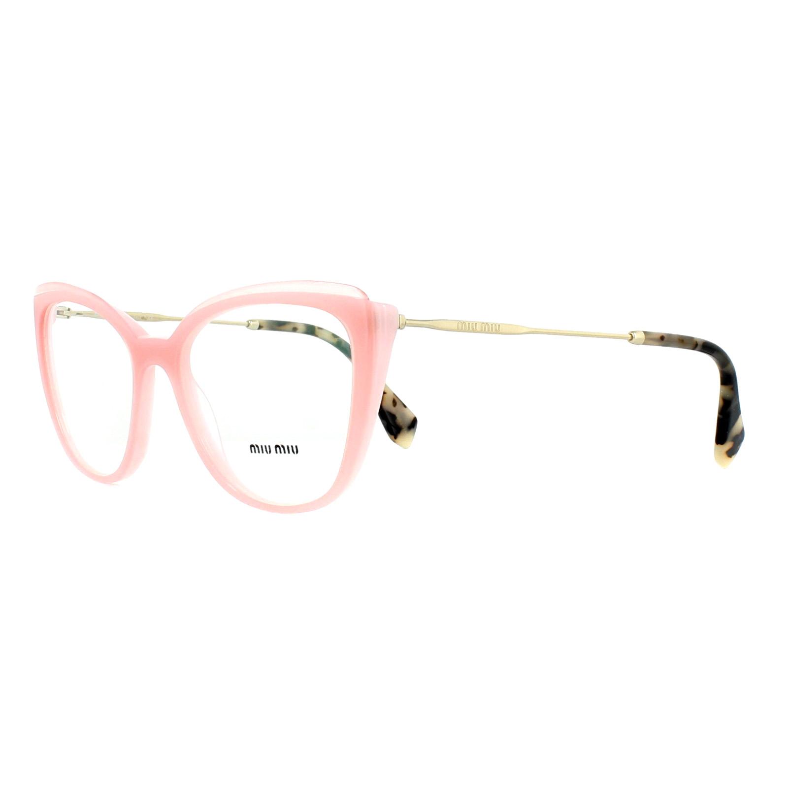 15d45e99979f Sentinel Miu Miu Glasses Frames MU02QV VYB1O1 Pink Transparent Pink 53mm  Womens