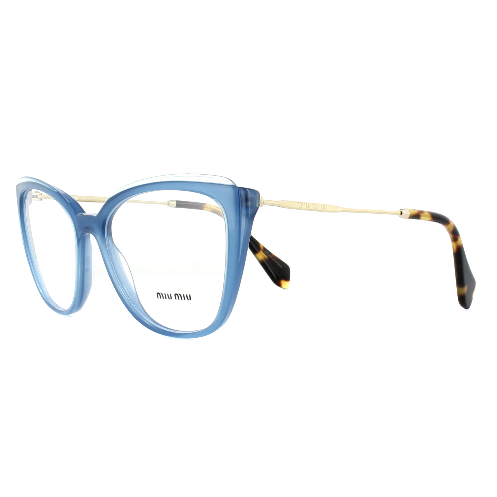 d058ba814d3 Sentinel Miu Miu Glasses Frames MU02QV VYC1O1 Blue Transparent Blue 53mm  Womens