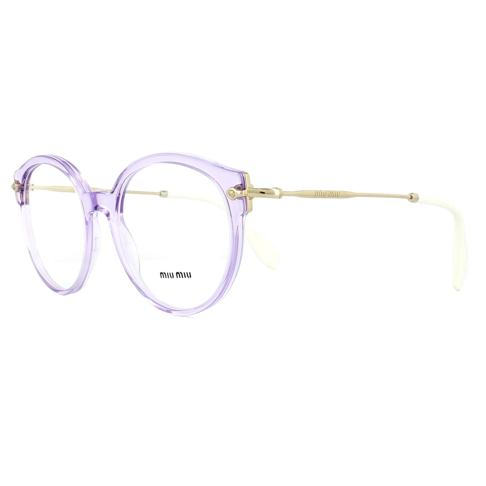 993f0c4c1e Sentinel Miu Miu Glasses Frames MU04PV U691O1 Transparent Lilac 52mm Womens
