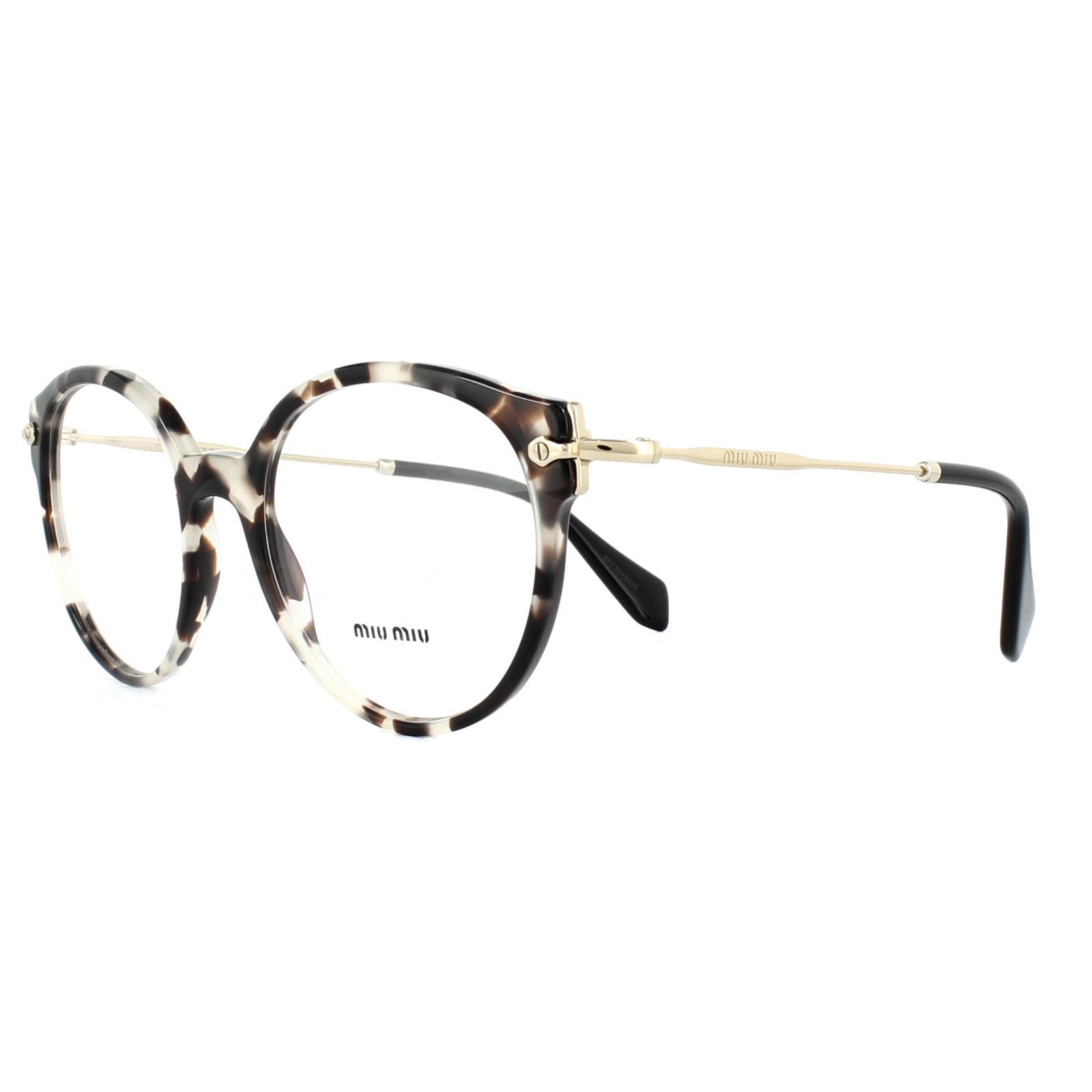 531aba229459 Sentinel Miu Miu Glasses Frames MU04PV UAO1O1 Opal Ivory Havana 52mm Womens