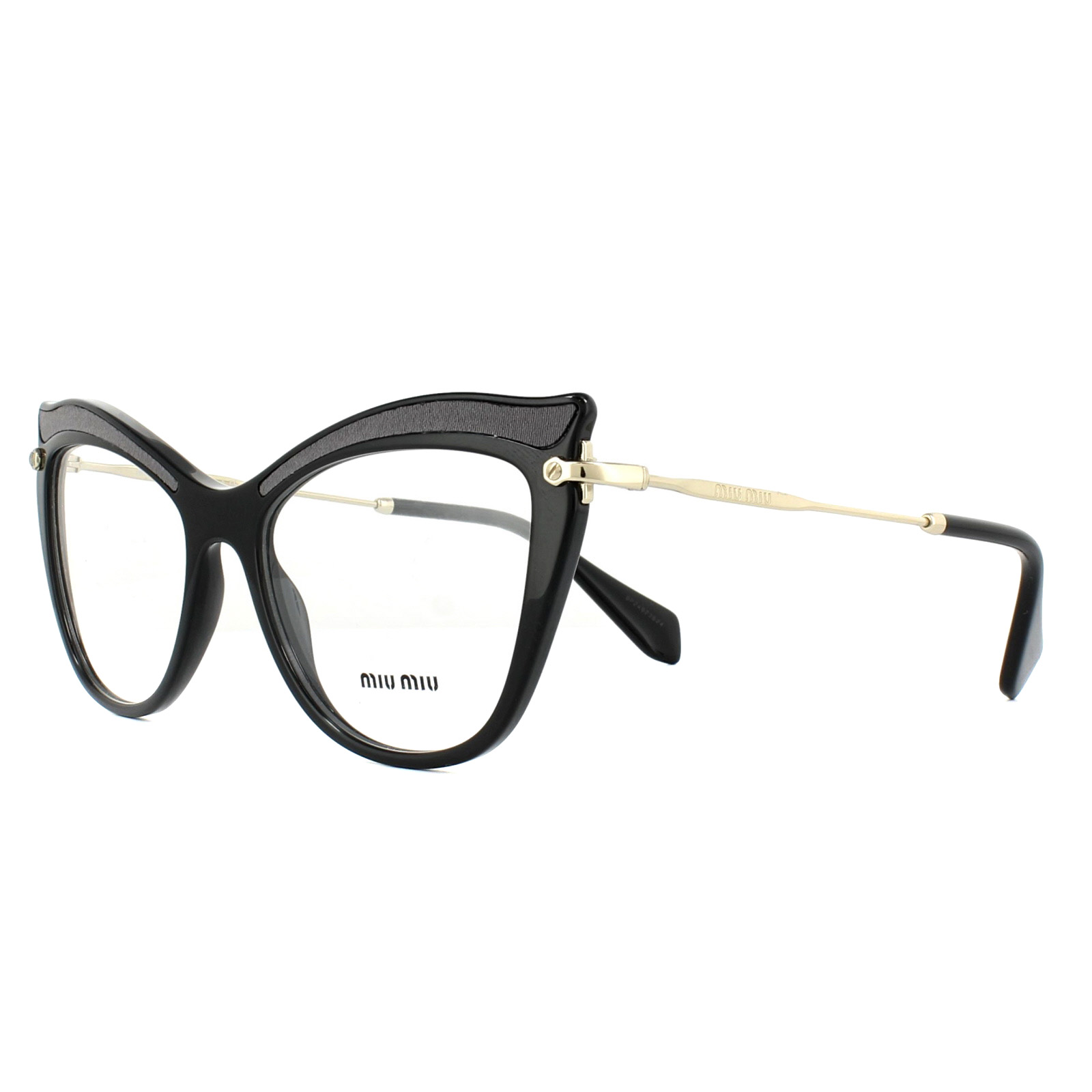 0083935c2915 Miu Miu Glasses Frames MU06PV VIE1O1 Black 51mm Womens 8053672740073 ...