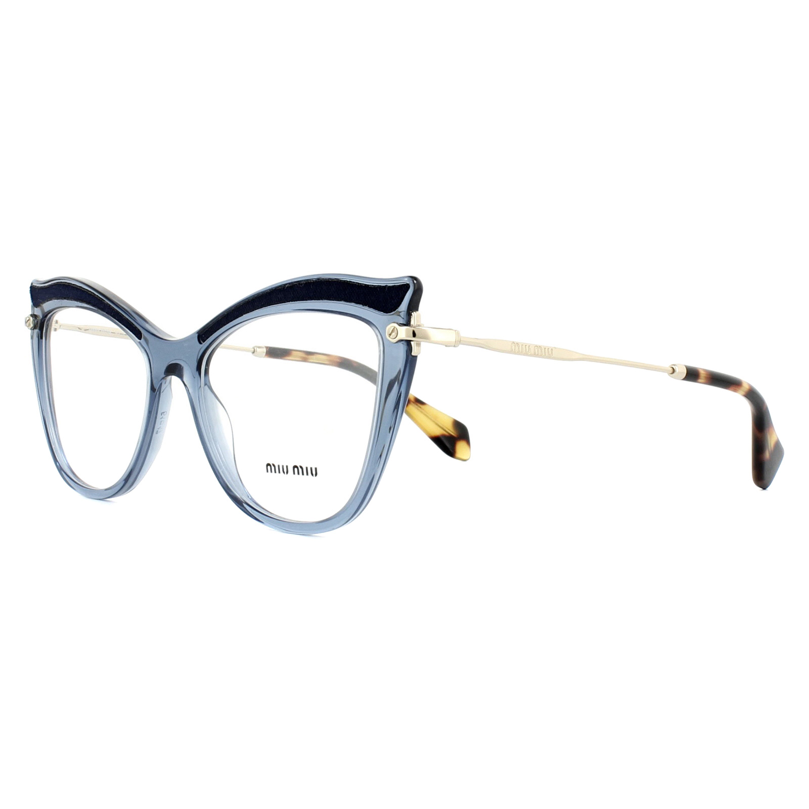 42fe2f10f74b Sentinel Miu Miu Glasses Frames MU06PV VIG1O1 Transparent Blue 51mm Womens