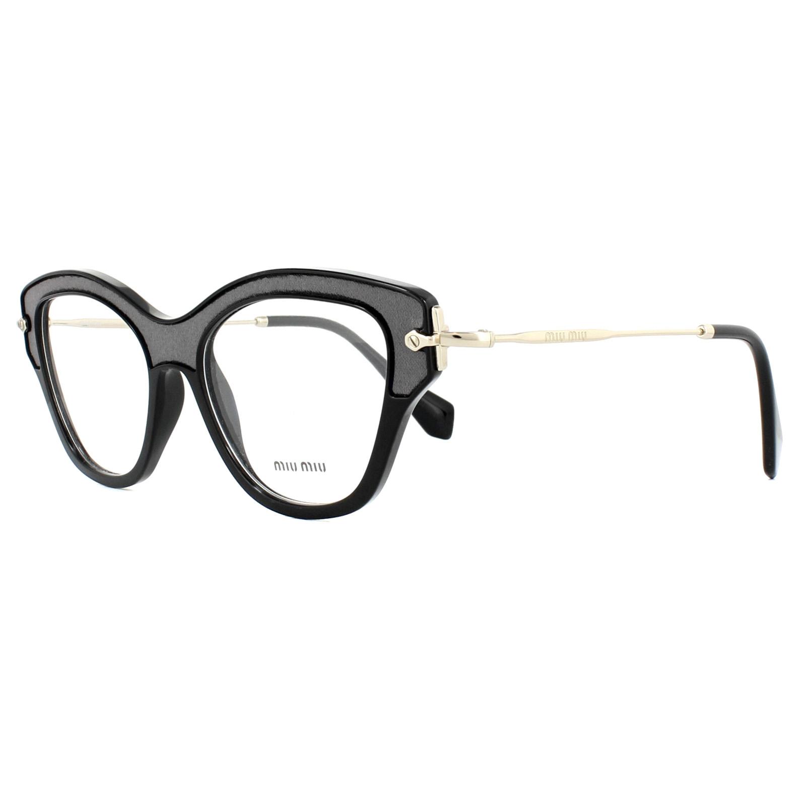 b61612e46fbf Miu Miu Glasses Frames MU07OV VIE1O1 Black 52mm Womens 8053672743050 ...