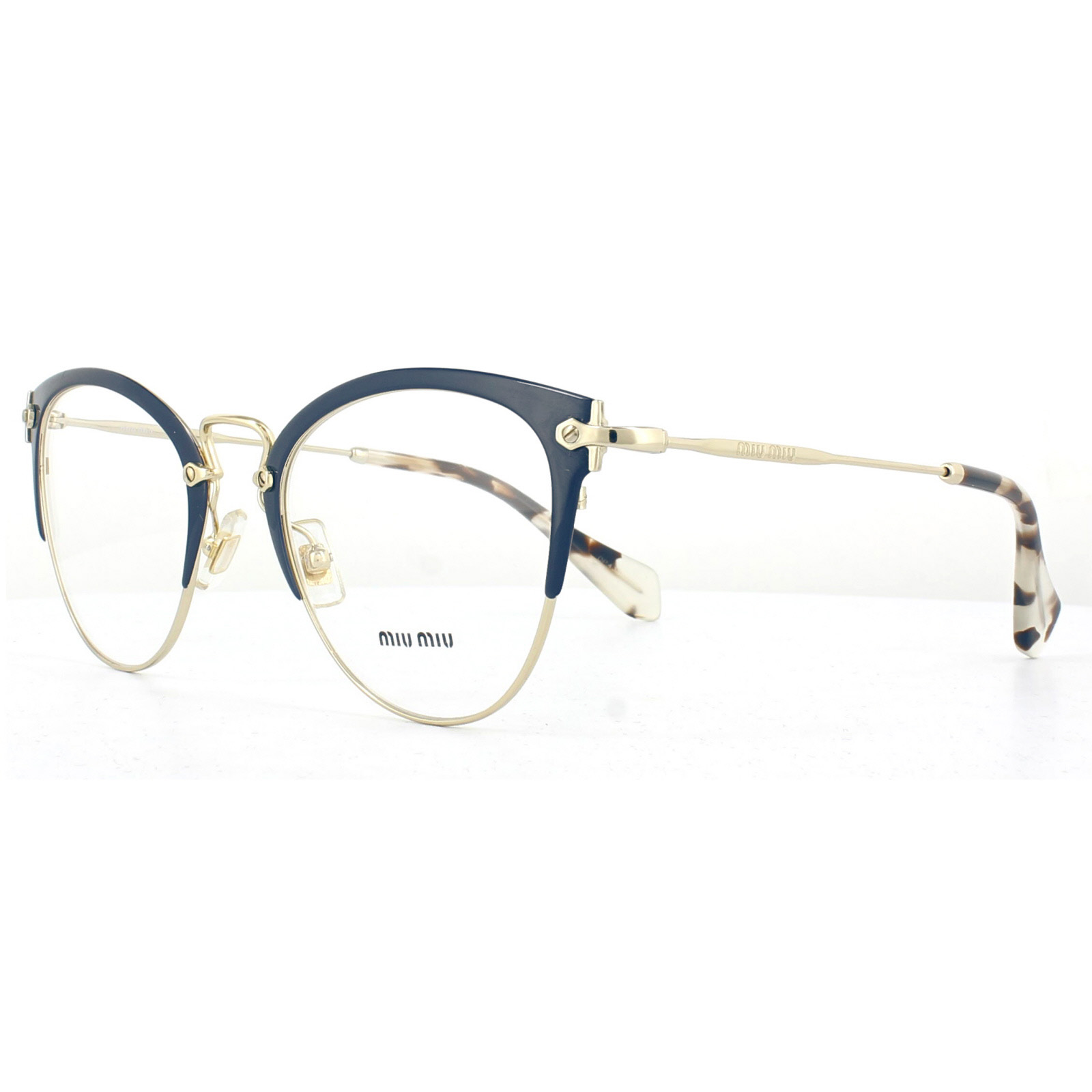 cec05554db7 Sentinel Miu Miu Glasses Frames MU50QV VYH1O1 Blue Pale Gold 52mm Womens