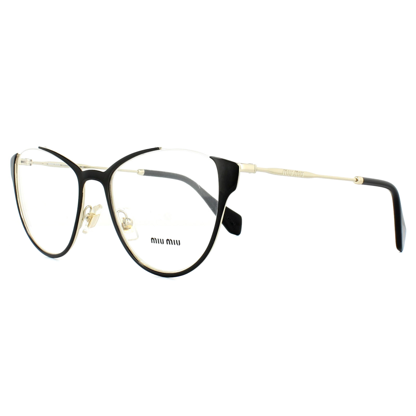 e305a6add47a Miu Miu Glasses Frames MU51OV QE31O1 Black 53mm Womens 8053672506624 ...