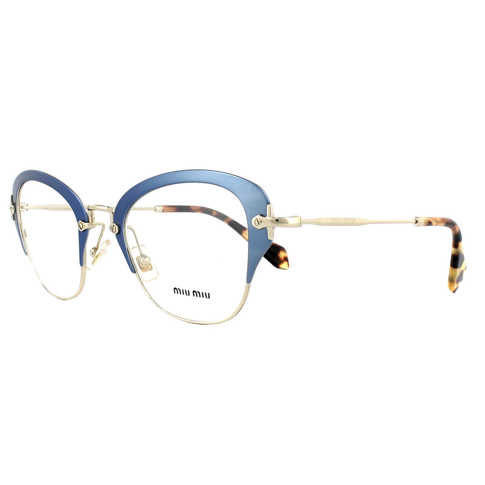 Miu Miu Montature Occhiali MU53OV VA71O1 Intricati Azzurro 50mm da ... fd336538bab