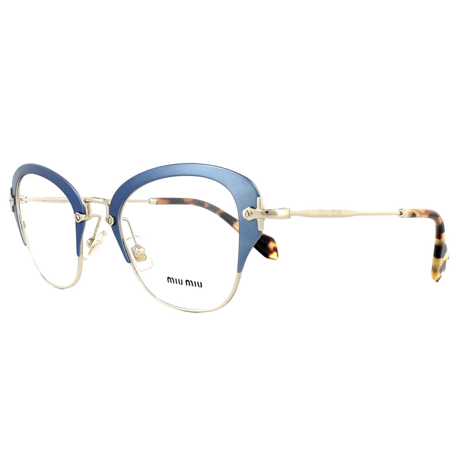 e0cda799739 Sentinel Miu Miu Glasses Frames MU53OV VA71O1 Matt Azure 50mm Womens