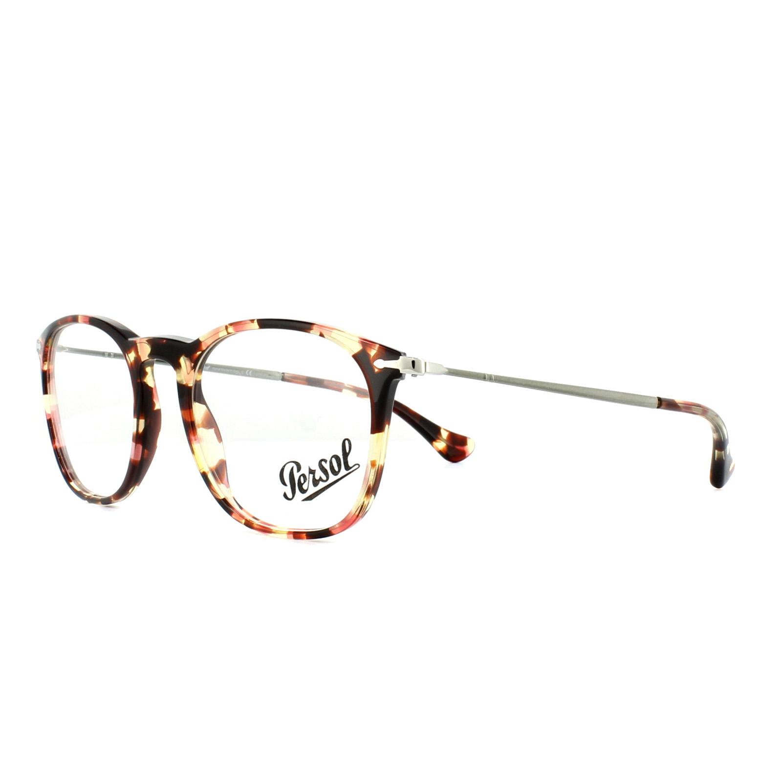 89d2159bbca Sentinel Persol Glasses Frames PO3124V 1059 Havana Rose Brown 48mm Mens