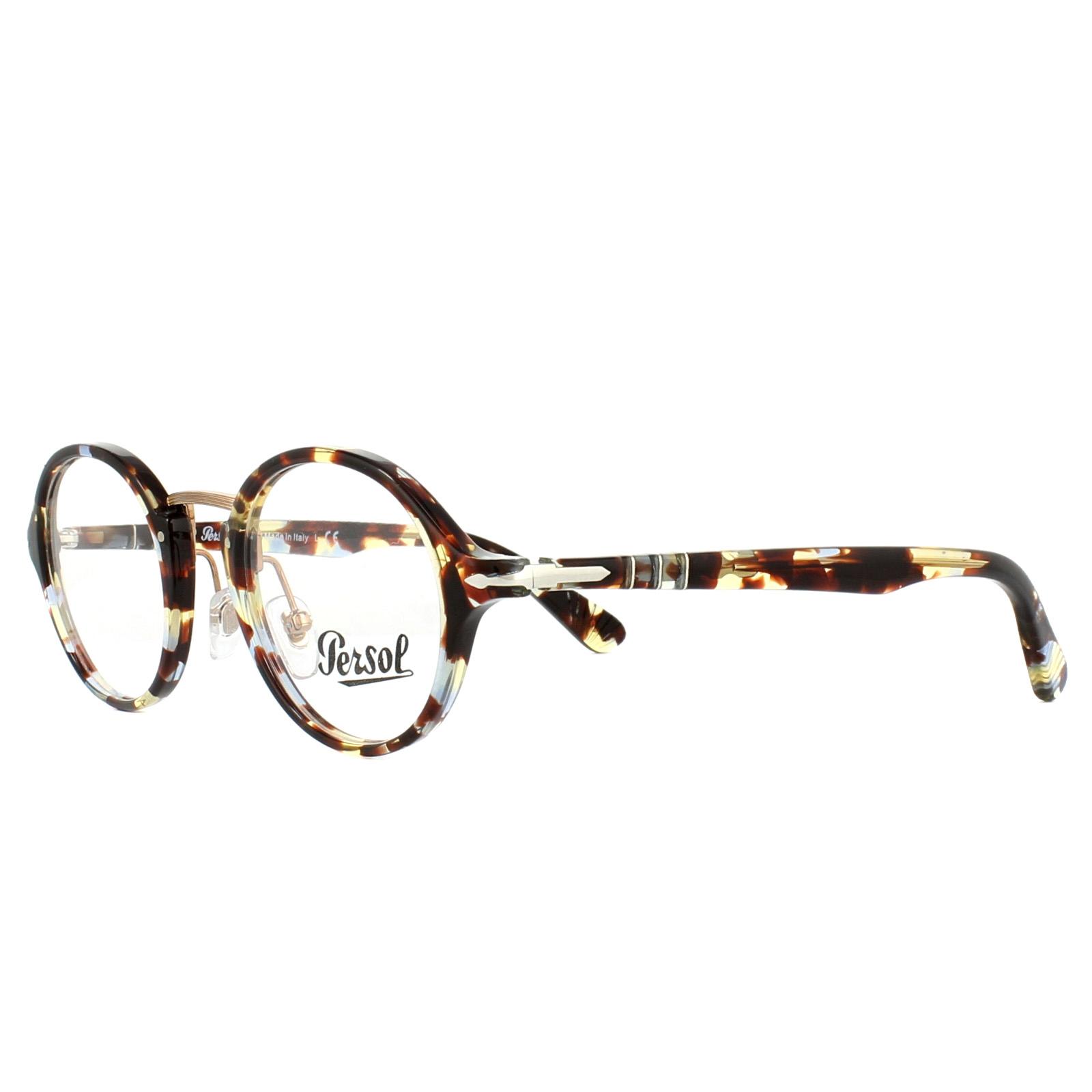 245ab424b7 Sentinel Persol Glasses Frames PO3128V 1058 Havana Azure Brown 46mm Mens  Womens