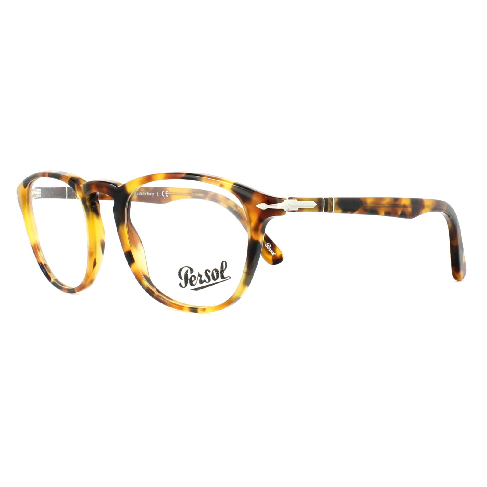 fb83a9c75c Sentinel Persol Glasses Frames PO3143V 1050 Striped Brown Yellow 47mm Mens