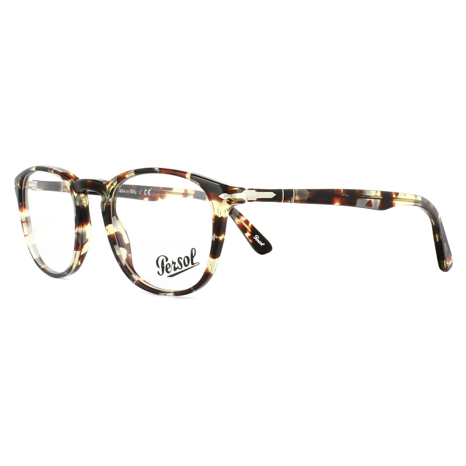 ad441dc1ae Sentinel Persol Glasses Frames PO3143V 1057 Havana Grey Brown 49mm Mens