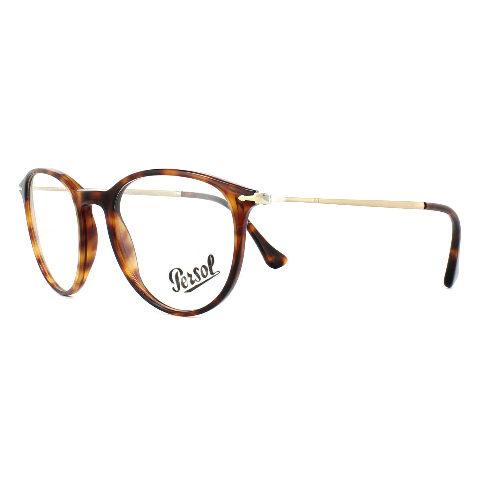9e5fde5e735 Persol Glasses Frames PO3147V 24 Havana 48mm Mens 8053672594270