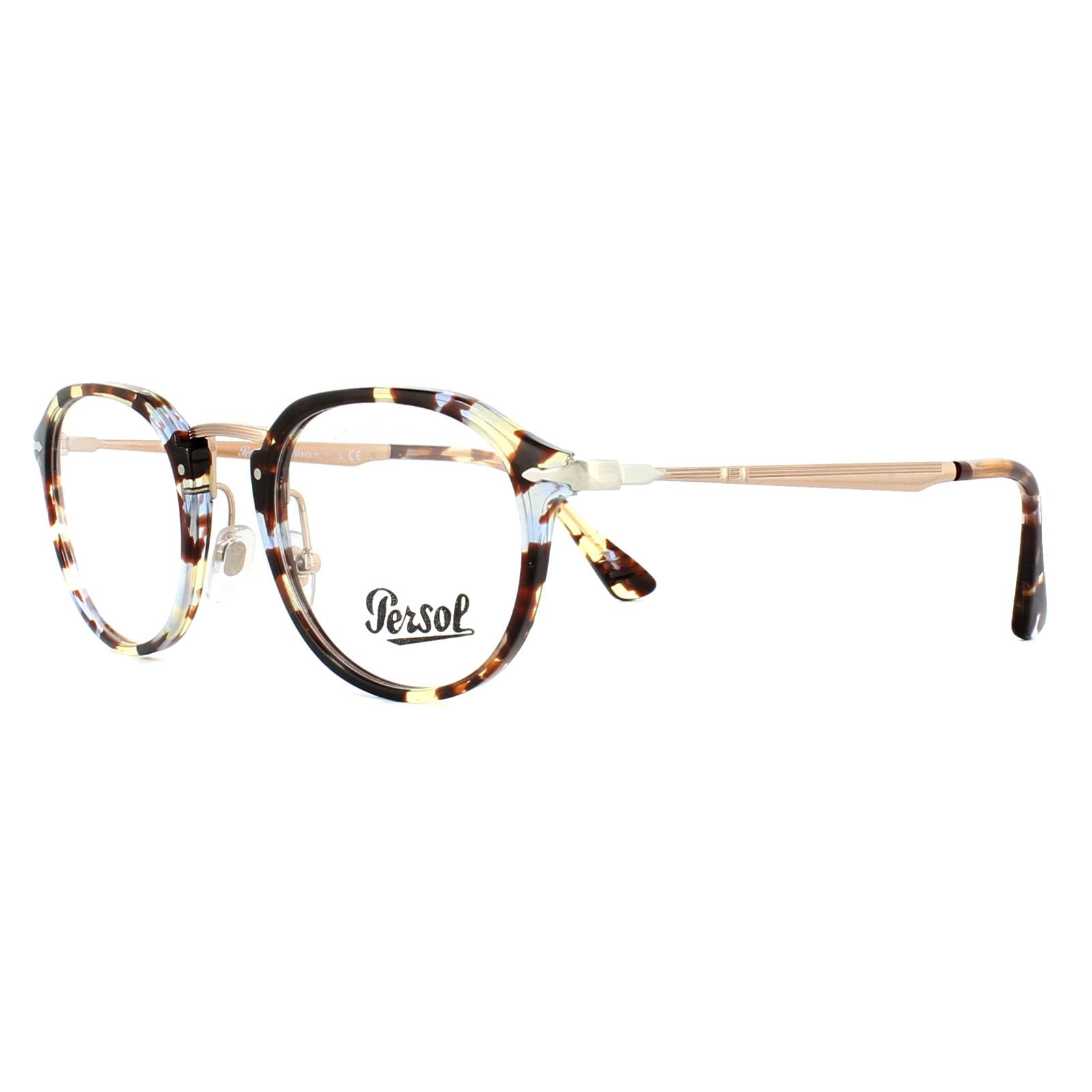 0a31c4eef5 Sentinel Persol Glasses Frames PO3168V 1058 Havana Azure Brown 50mm Mens  Womens