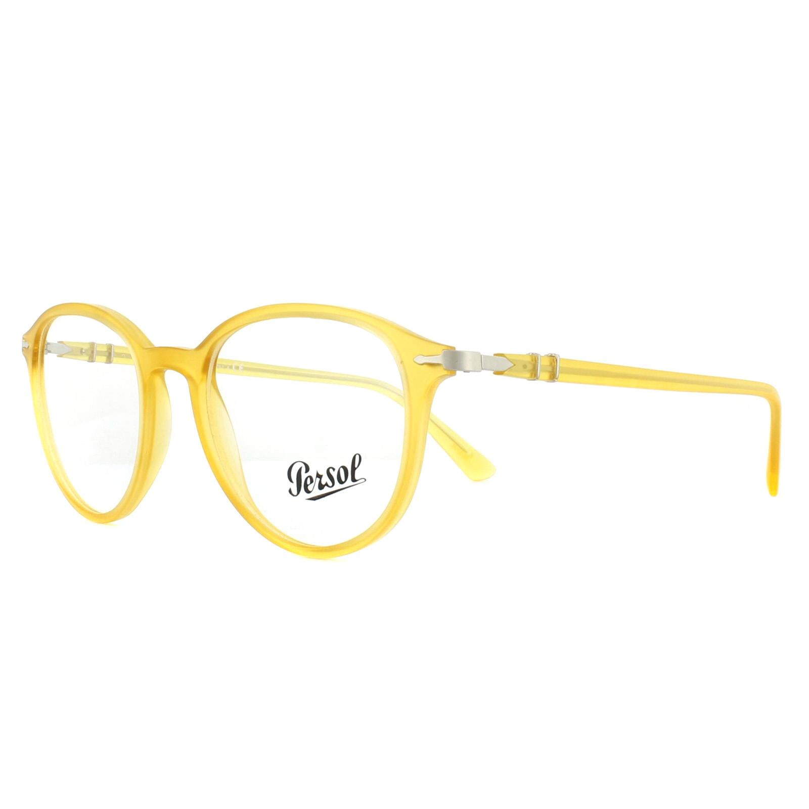 08d49ff181fc2 Sentinel Persol Glasses Frames PO3169V 1048 Matt Yellow 50mm Mens