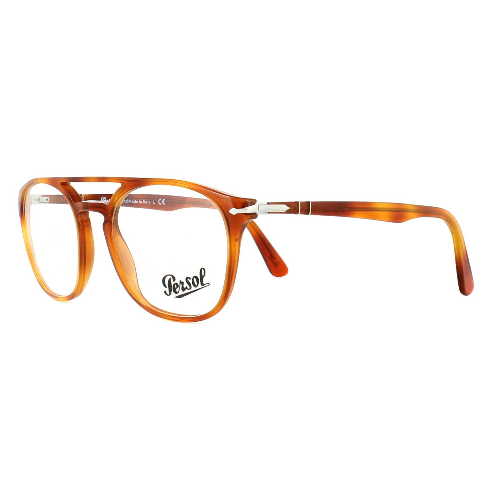 01c31ef6420e0 Sentinel Persol Glasses Frames PO3175V 9041 Terra Di Siena 52mm Mens