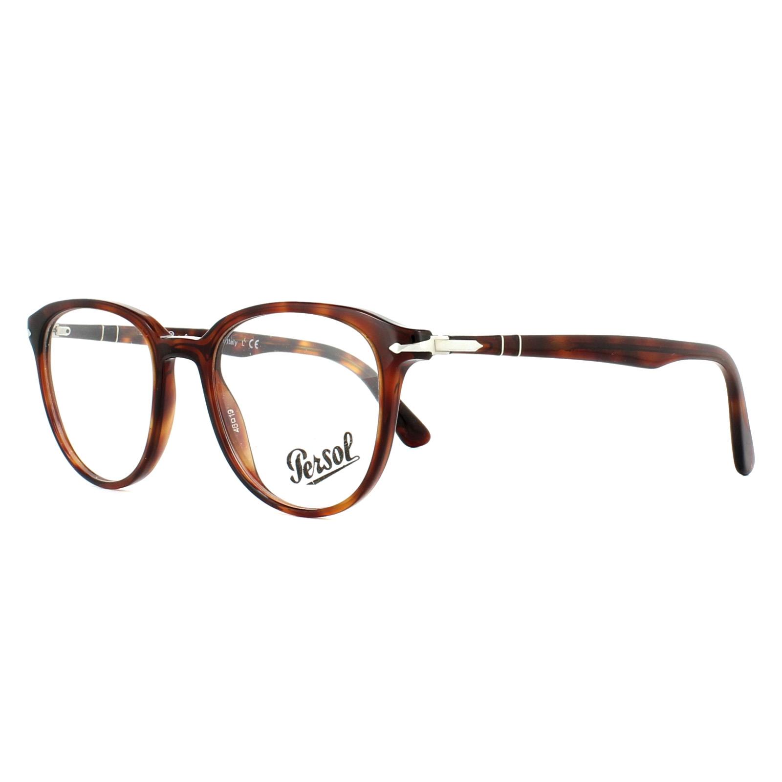 1702d252a61 Persol Glasses Frames PO3176V 24 Havana 48mm Mens 8053672759839