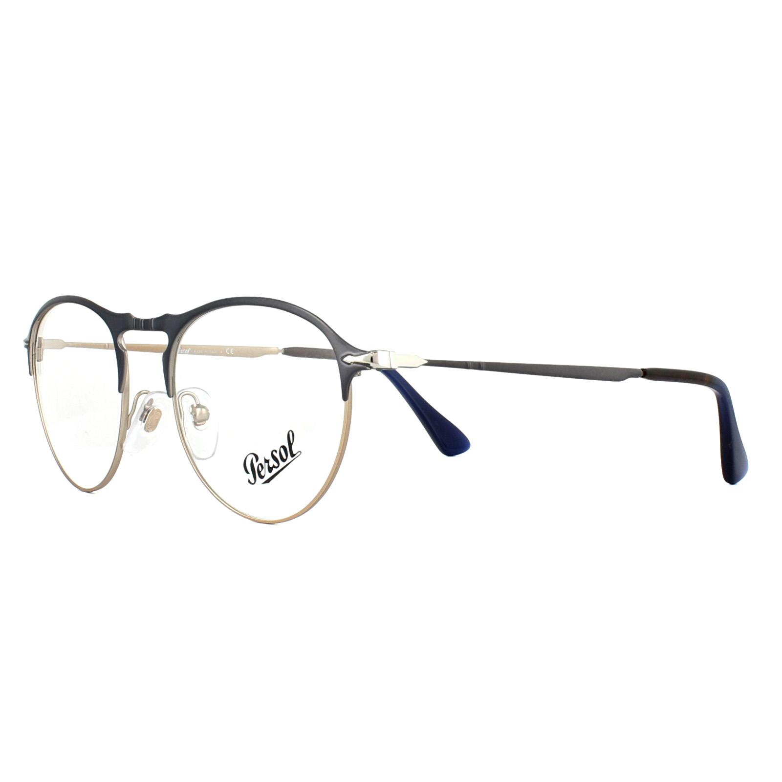 6379b33469 Sentinel Persol Glasses Frames PO7092V 1073 Blue Bronze 50mm Mens