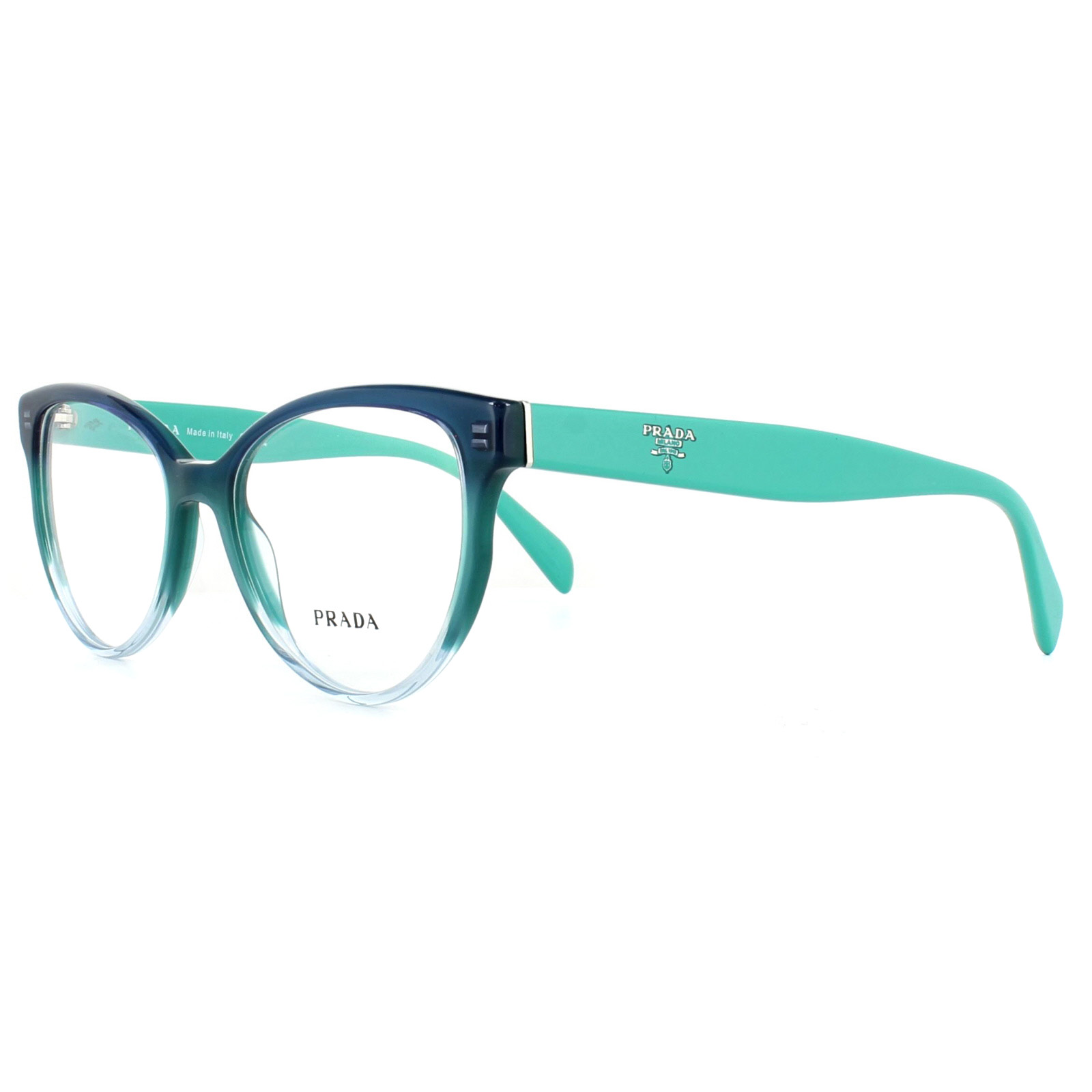 a96794501b Sentinel Prada Glasses Frames PR01UV VX61O1 Gradient Green 54mm Womens