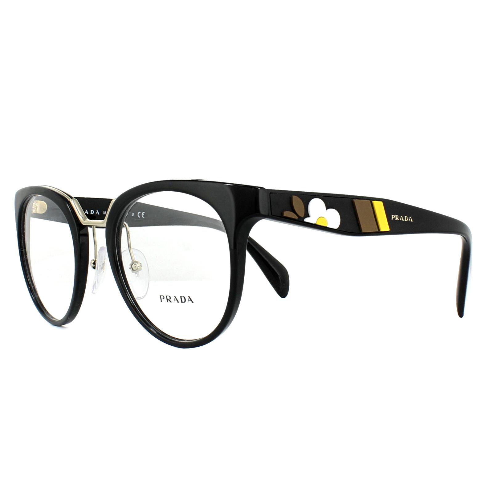 0bb4591344f Prada Glasses Frames PR03UV 1AB1O1 Black 51mm Womens 8053672781700 ...
