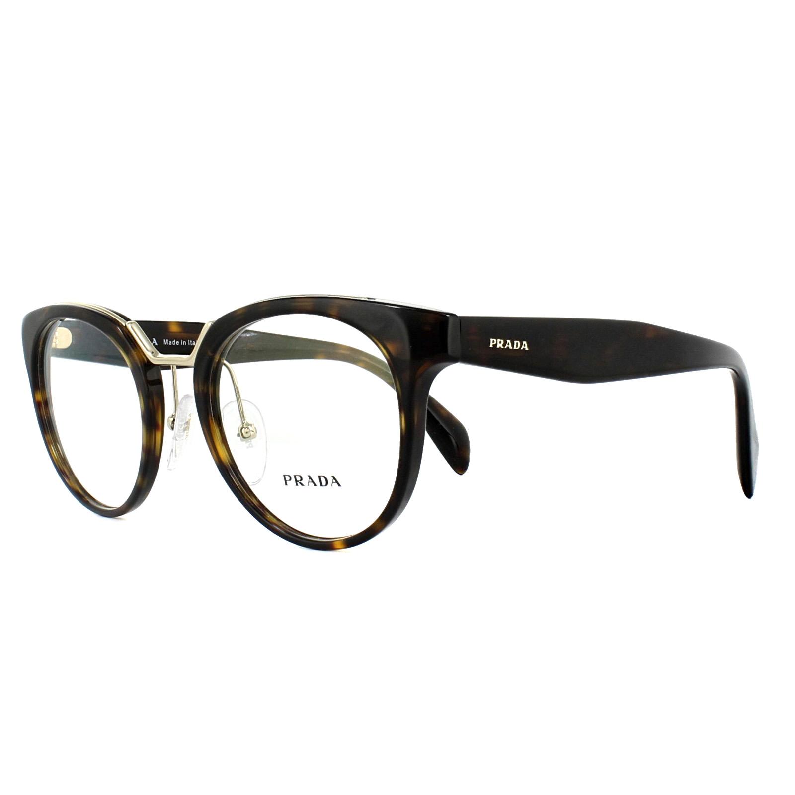 5af43de518 Prada Glasses Frames PR03UV 2AU1O1 Havana 49mm Womens 8053672781731 ...