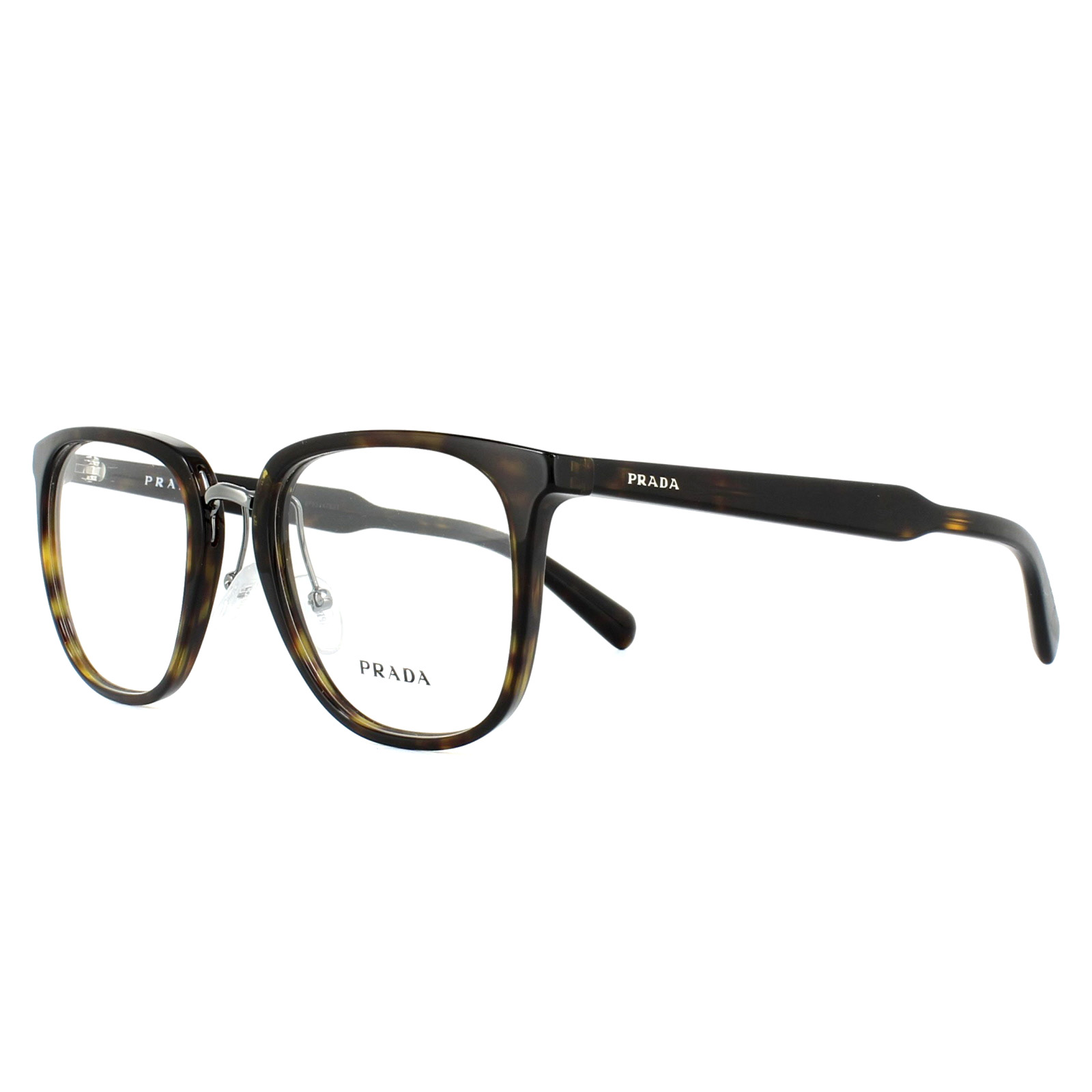 e67ad0268b Prada Glasses Frames PR10TV 2AU1O1 Havana 51mm Mens 8053672621259
