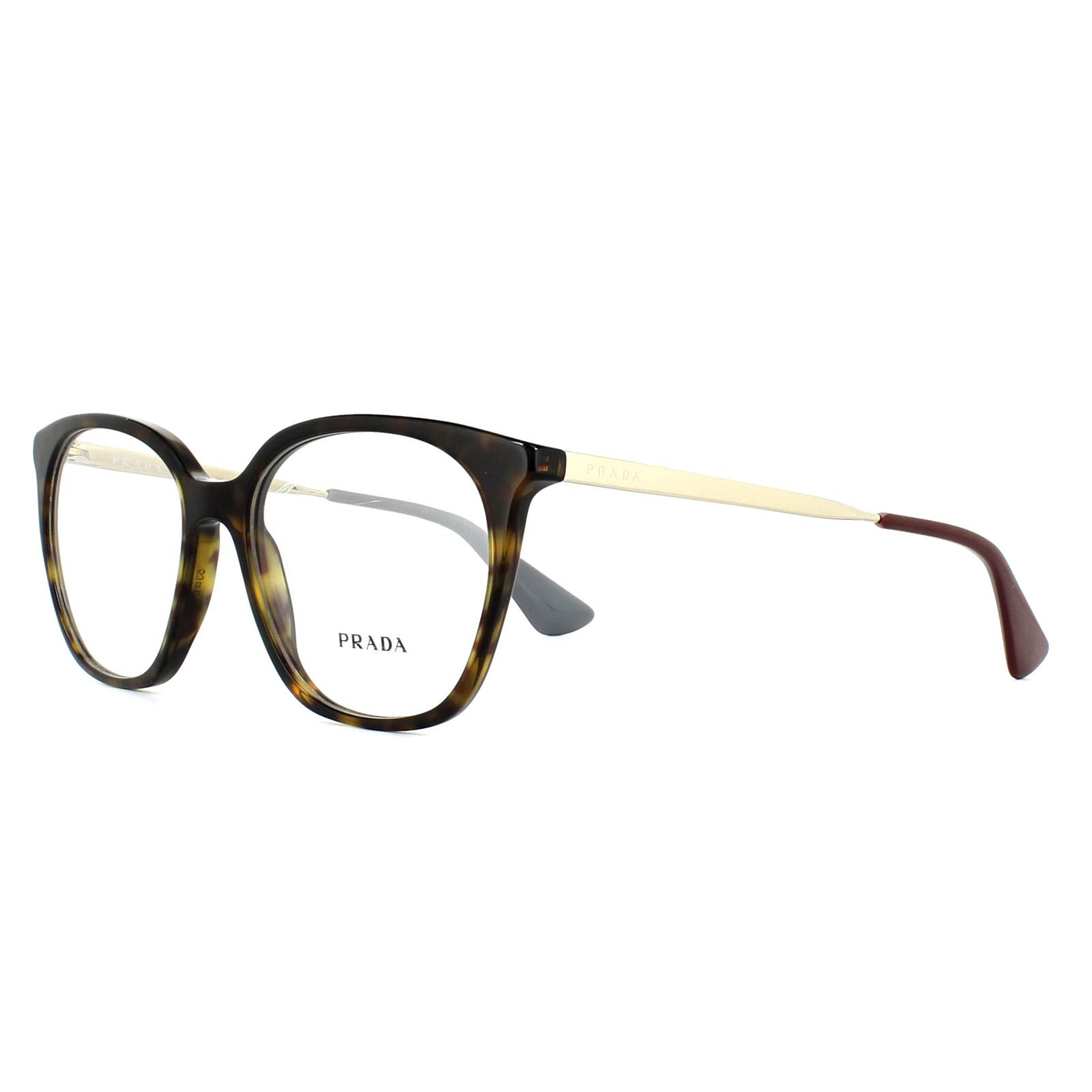 ffffe767db Prada Glasses Frames PR11TV 2AU1O1 Havana 53mm Womens 8053672673821 ...