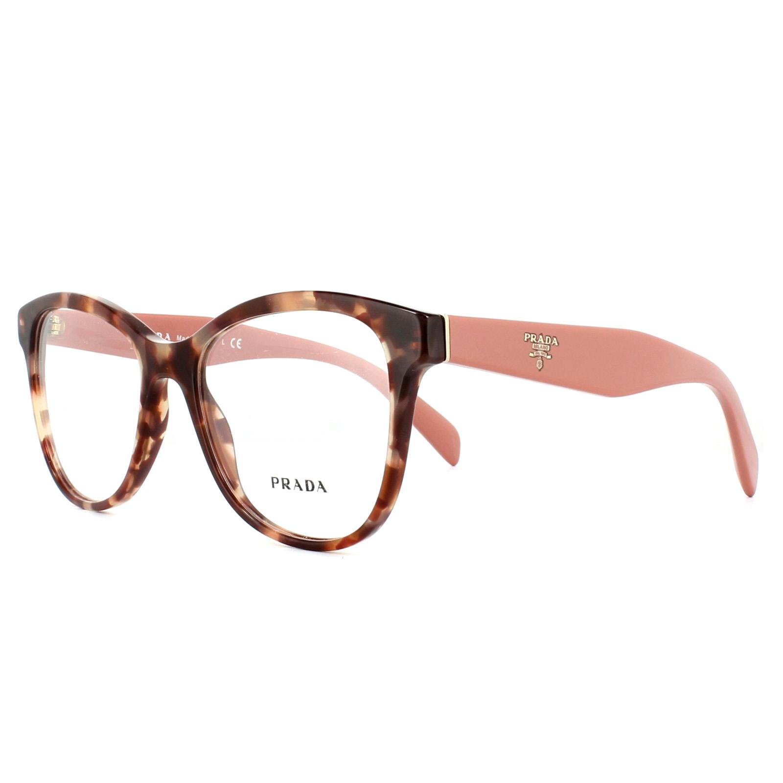 5e7b2cfec75 Sentinel Prada Glasses Frames PR12TV UE01O1 Pink Havana 51mm Womens
