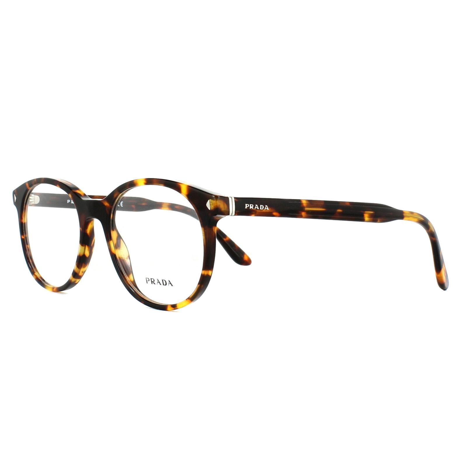 15b42ddfb8 Prada Glasses Frames PR14TV VAU1O1 Havana 52mm Mens 8053672674163