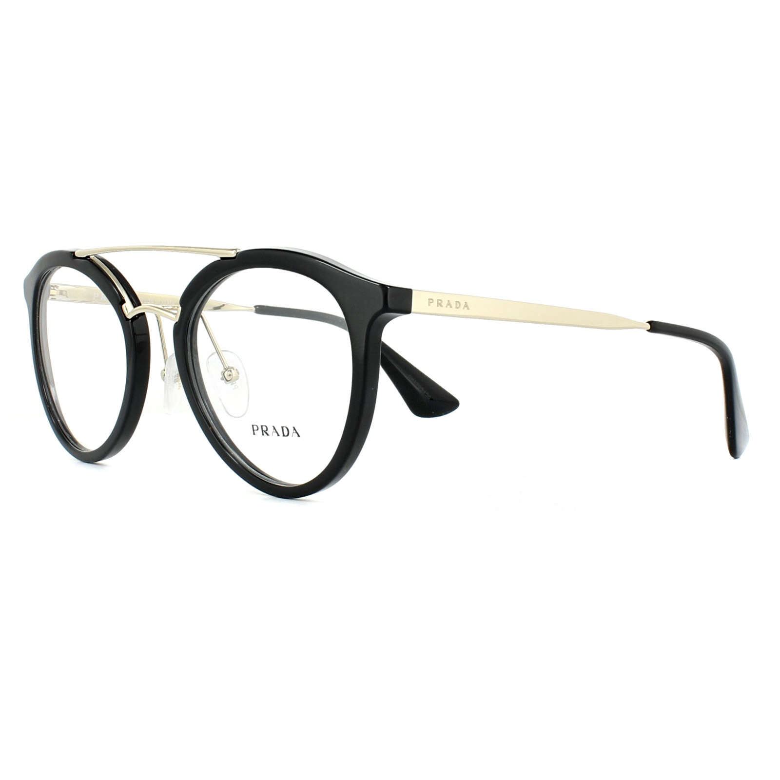 69c83d8fc3 Prada Glasses Frames PR15TV 1AB1O1 Black 50mm Womens 8053672674170 ...